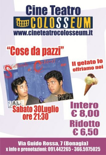 "I ""Sale&Pepe"" al Cineteatro Colosseum"