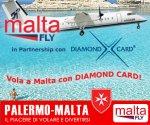 con diamond card sconto per i voli per malta grazie alla partnership con malta fly